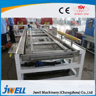 PVC WPC Plastic Profile Extrusion Line , Twin Screw Extruder Machine Popular Door Cover