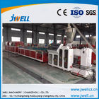 Floor PE Wpc Extruder Machine , Wpc Board Making Machine Excellent Water Resistance