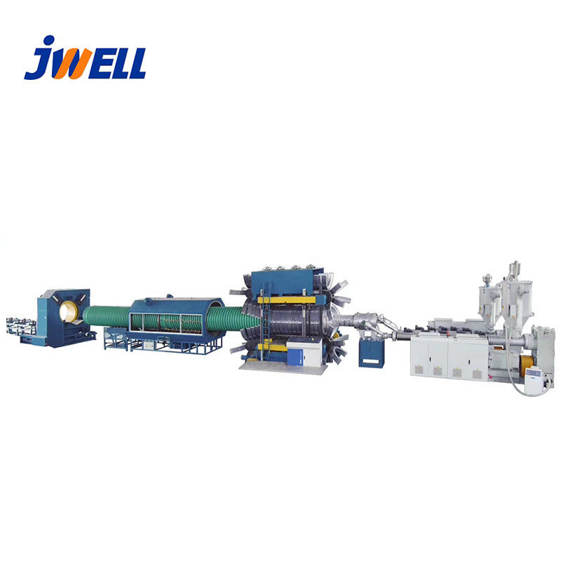 Conduit Pipe Extrusion Line , Plastic Pipe Manufacturing Machine Wall Corrugated